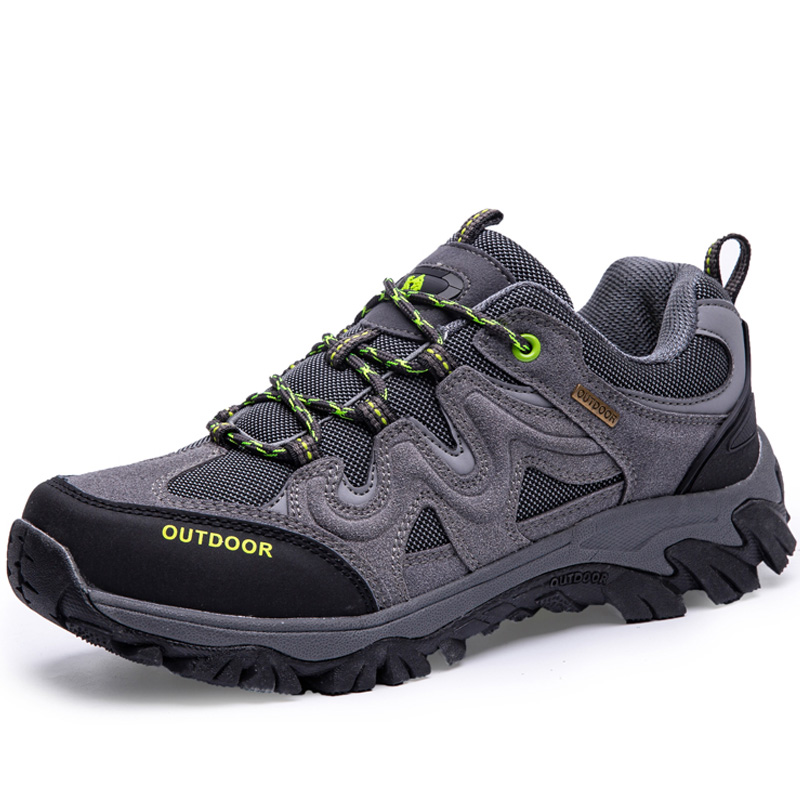 Plus Size Unisex Leather Hiking Shoes Winter Brand Outdoor Mens Sport Cool Trekking Mountain 2019 Climbing Athletic Shoes 39-47