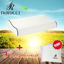 DeRUCCI шею подушку постельные принадлежности подушки пены памяти шейки ортопедические мягкие подушки спальные с 3 шт. платок бесплатный подарок