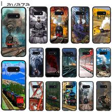 Lavaza Train Pattern Soft Case for Galaxy Note 8 9 S7 edge S8 S9 S10 Plus S10e M10 20 30 Cover