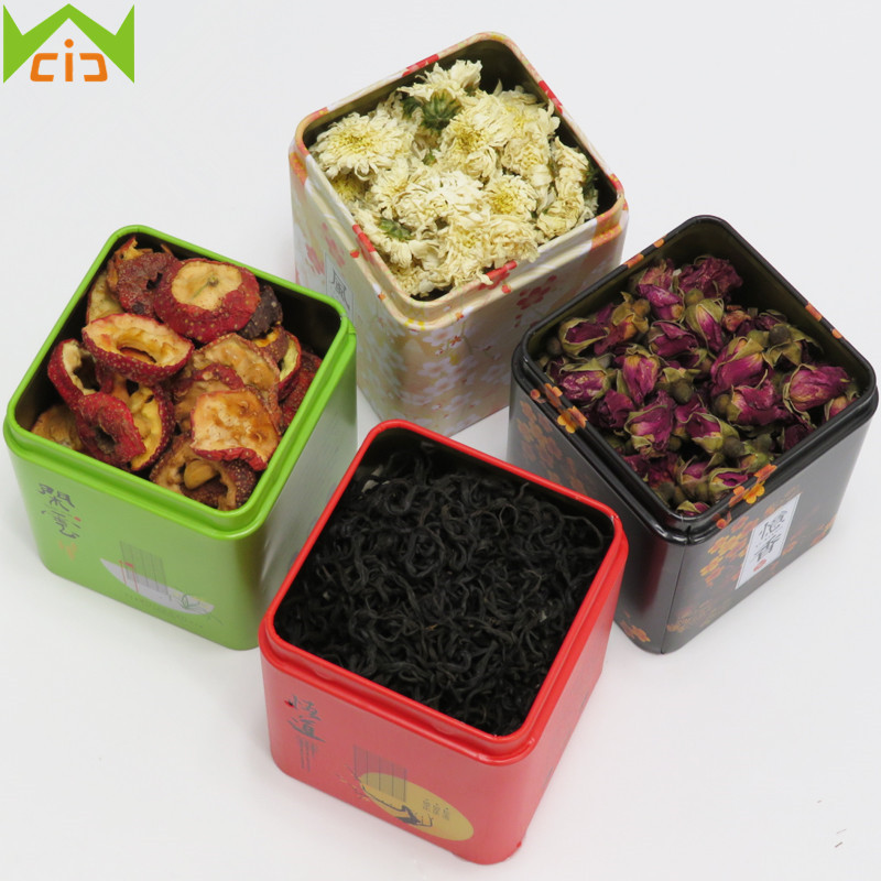 WCIC Vintage <font><b>Tea</b></font> Caddy Pastoral Candy Tin Mini Iron Storage Boxes Sealed Coffee Powder Cans <font><b>Tea</b></font> Leaves Container Metal Organizer