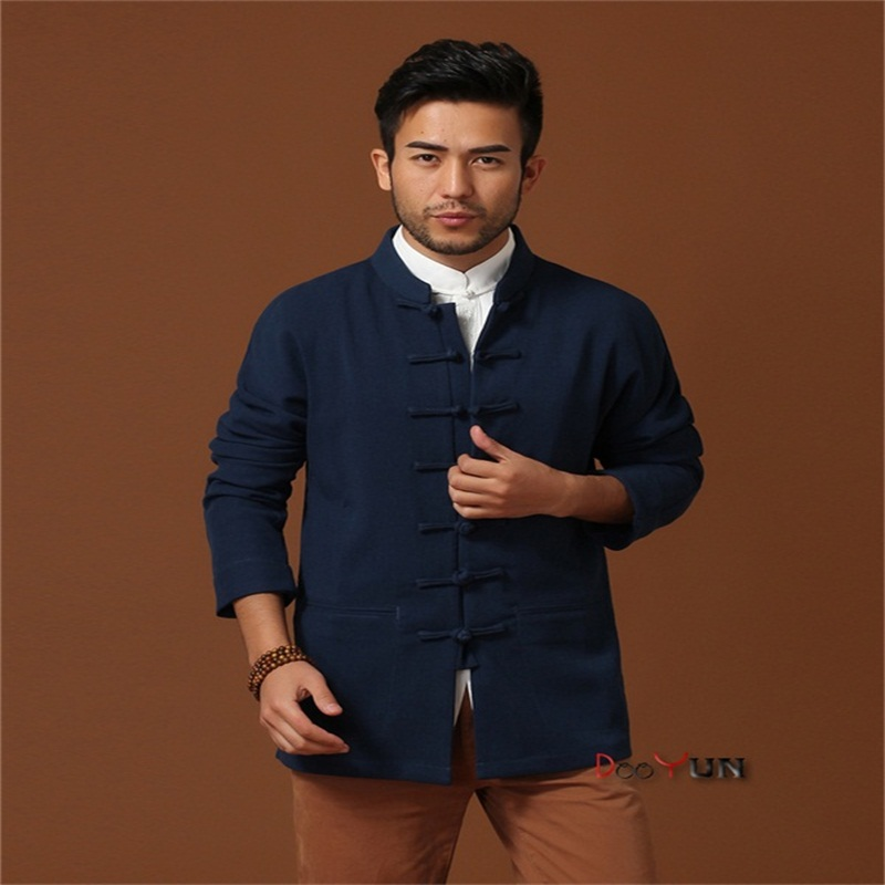 באיכות גבוהה גברים של ארוך שרוול בסגנון סיני מעיל קונג פו מעיל מוצק נאה טאנג חליפת גודל S M L XL XXL XXXL משלוח חינם