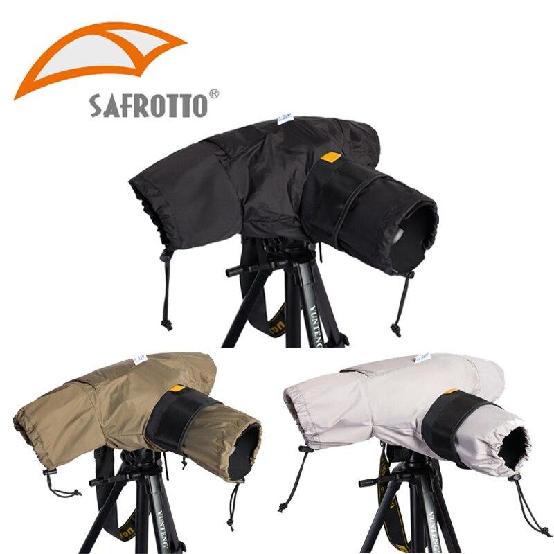 Sacs pour appareil photo Safrotto housse de pluie pour appareil photo protecteur de sac imperméable contre la poussière imperméable pour Canon Nikon Pendax DSLR SLR Camer