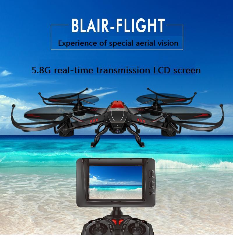 5.8G LCD ეკრანი ოთხი rotorcraft 4 არხის - დისტანციური მართვის სათამაშოები - ფოტო 1