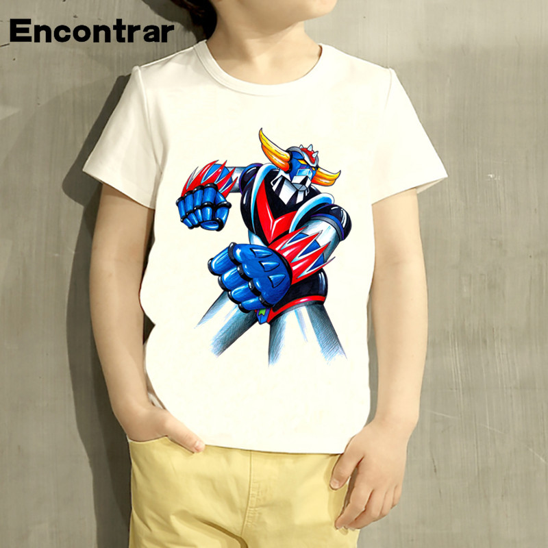Toddler Anime Grendizer Japan Robot Design Baby Boys/Girl T Shirt Kids Funny Short Sleeve Tops Children Cute T-Shirt,HKP388 children s anime my neighbor totoro printed t shirt kids great casual short sleeve tops boys and girls cute t shirt