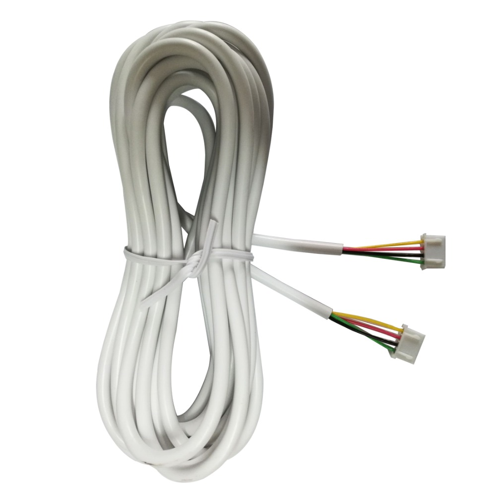 Door Cable  5M 2.54*4P 4 Wire Cable For Video Intercom Color Video Door Phone Doorbell Wired Intercom Connection Cable