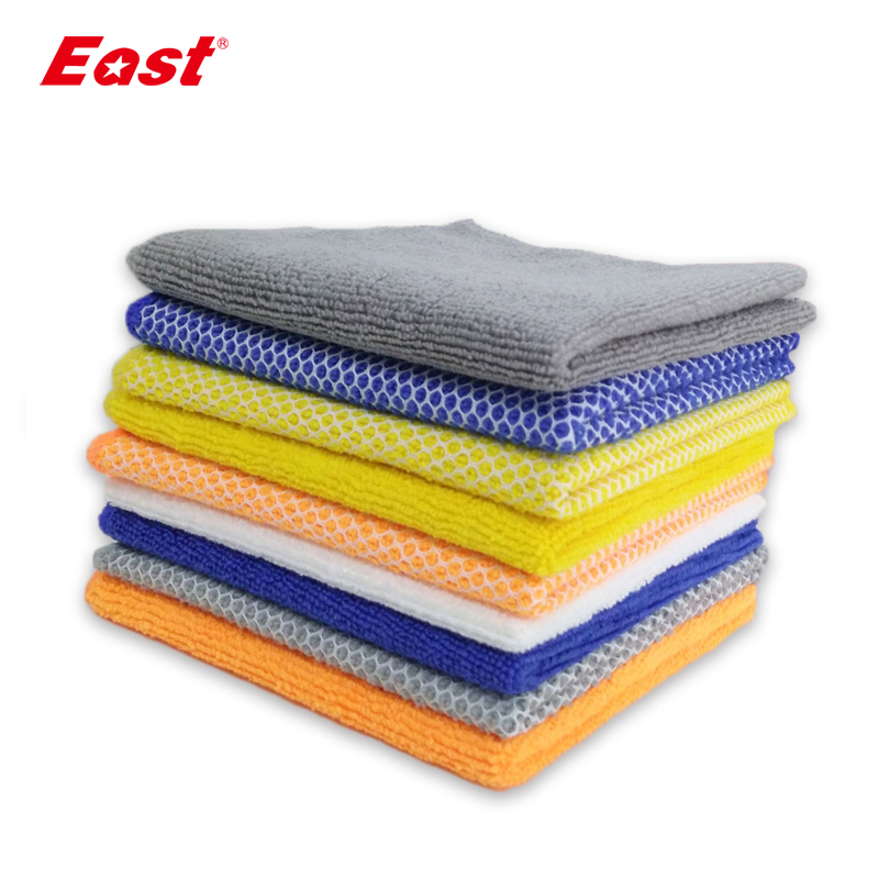East 10 pcs Microfiber 12-Inch Kitchen Cleaning Cloth Cuci Dishes Air Menyerap Handuk Kitchen Cleaning Rag