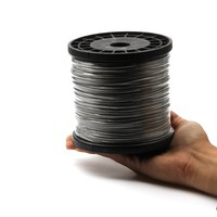 Rompin 1.0mm 500M Sea Fishing Stainless Steel Wire Wire Fishing line 7 Strands Braided Leader Wire Coated plastic Waterproof