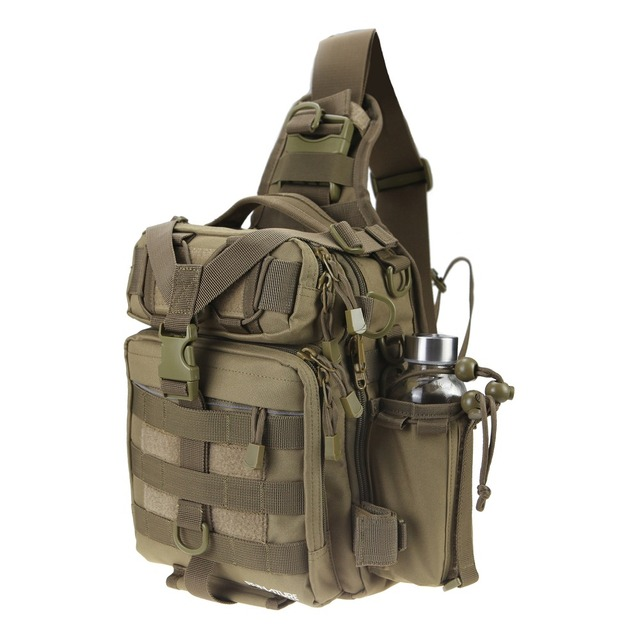 Runature Fishing Tackle Bag Backpack Tactical Waterproof Multifunctional Single Shoulder Military Pack Chest For