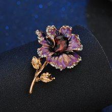 Terreau Kathy, модные броши в виде цветка розы с кристаллами для женщин,, брошь на шарф, брошь на булавке, ювелирное изделие, прекрасные аксессуары