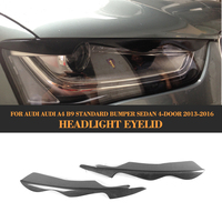 Carbon Fiber Front Headlight Eyebrows HeadLamp Covers Mask Eyelids for Audi A4 B9 Standard Sedan 2013 2016 Non Sline 2PC