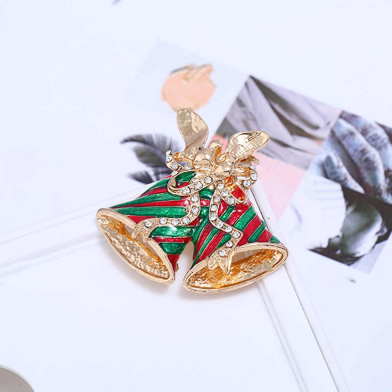 CINDY XIANG Colorful Paint Bell Brooches For Women Christmas Coat Sweater Pins Party Gift Accessories Jewelry New Arrival 2018