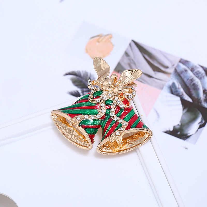 Cindy Xiang Cat Warna-warni Bell Bros untuk Wanita Natal Mantel Sweter Pin Hadiah Pesta Aksesoris Perhiasan Baru 2018