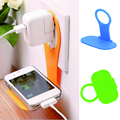 Foldable Wall Charger Adapter Mobile Cell Phone MP3 MP4 Charging Charger Holder Stand Cradle charge Holder random color