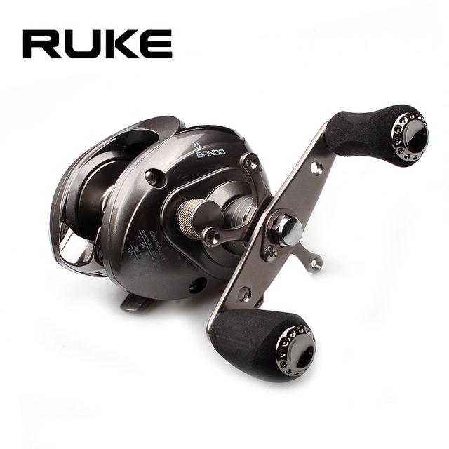 Ruke Fishing Reel Casting Reel Gear Ratio 5.1 :1 Aluminum Spool Magnetic Brake Bearing 5+1 EVA Knob 218g Max Drag 4.5KG 2