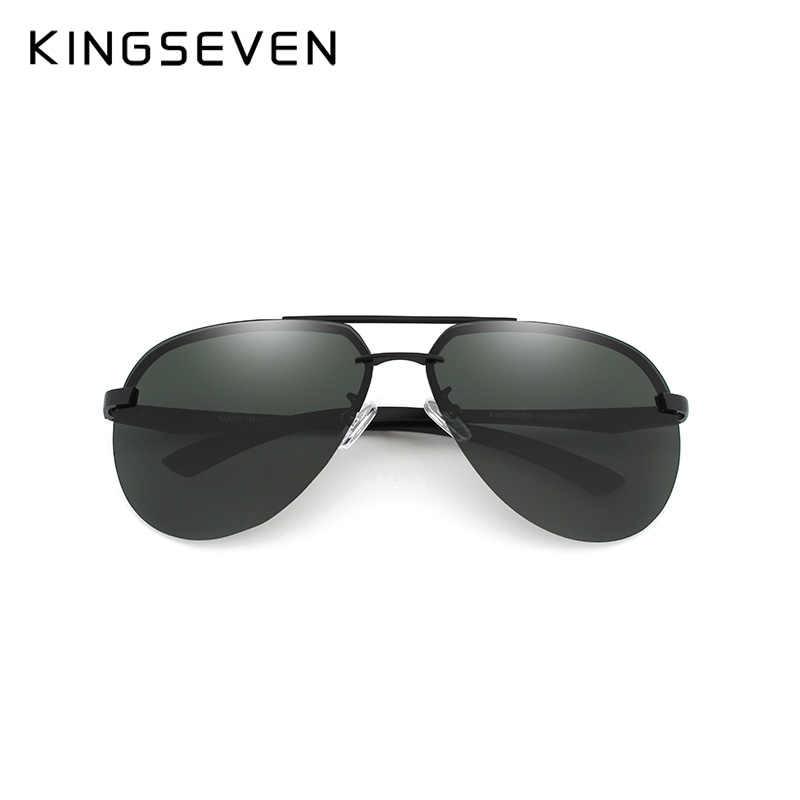 d182413b1452 ... KINGSEVEN BRAND DESIGN Aluminum Pilot Polarized Sunglasses Men Vintage  Metal Frame Driving Sunglasses Male Goggles ...