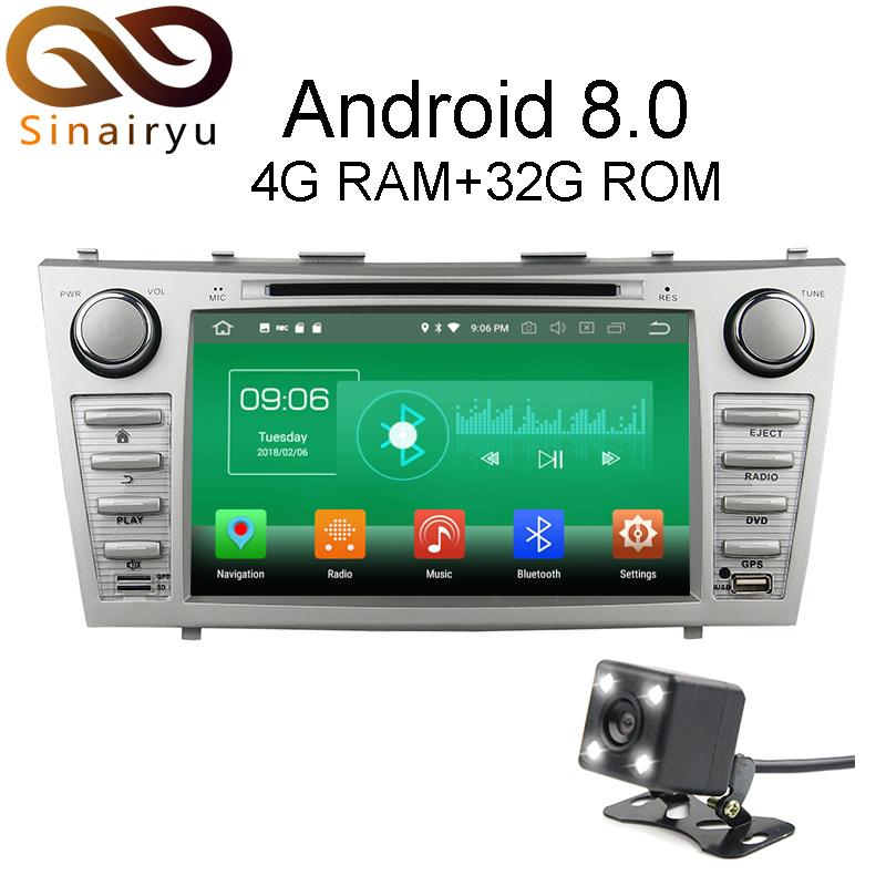 Sinairyu 4G RAM Android 8.0 Car DVD For Toyota Camry 2006 2007 2008 2009 2010 2011 Octa Core 32G ROM Radio GPS Player Head Unit цена