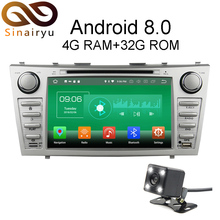 Sinairyu 4G RAM Android 8.0 Car DVD For Toyota Camry 2006 2007 2008 2009 2010 2011 Octa Core 32G ROM Radio GPS Player Head Unit