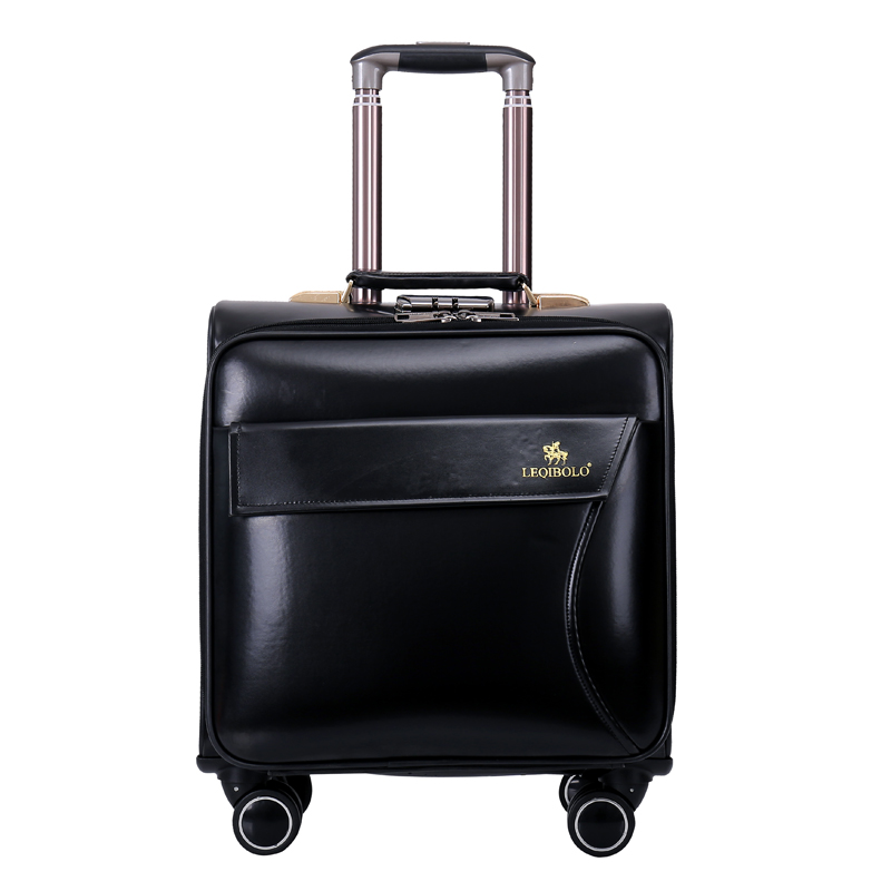 Paul luggage suitcase trolley luggage wheels universal female male 16 commercial small travel bag