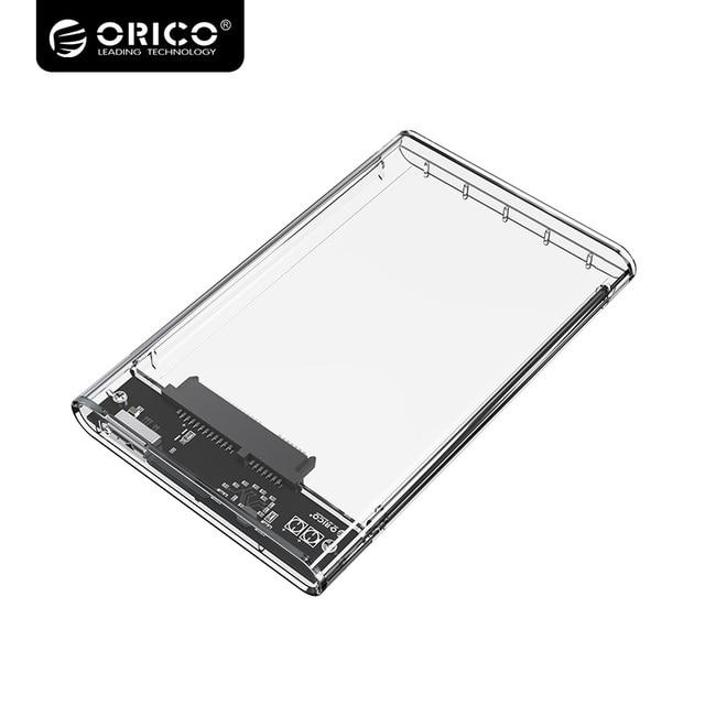 ORICO Super Скорость USB3.0 жесткий диск 2.5 дюймов прозрачный SATA к USB3.0 жесткий диск Поддержка 2 ТБ Drive 2139U3