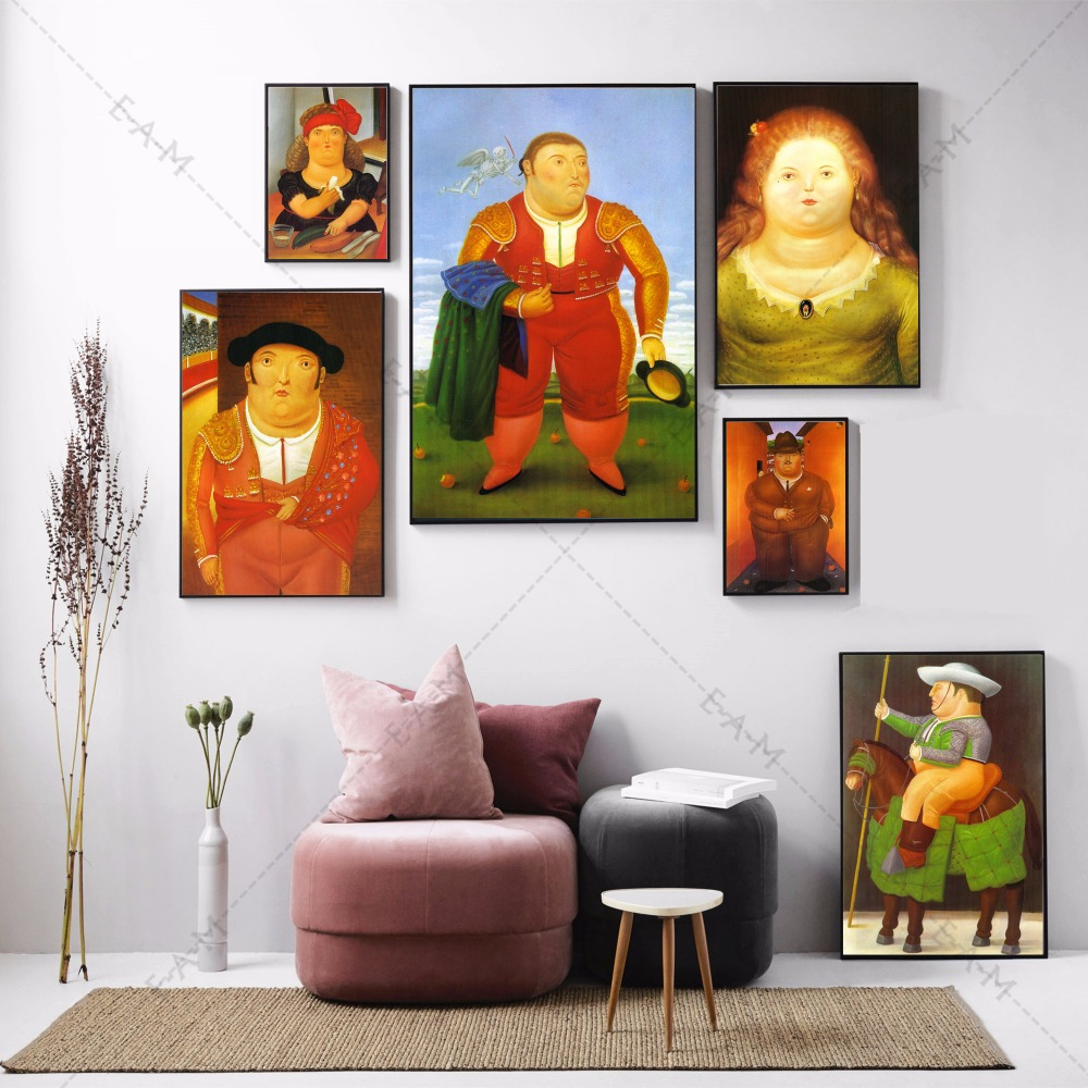 Botero Fernando Matador Canvas Art Print Painting Poster Wall Pictures For