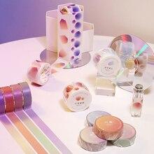 15/30mm Kawaii Gradient Color Dot Masking Washi Tape Creative DIY Journal Decorative Adhesive Tape Sticker Scrapbooking Supplies