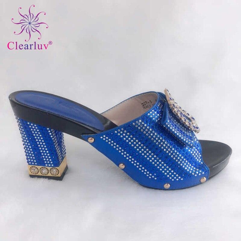 f21f6fe7079 Nigérian Fixés Les Couleur Talon Des Africain 42 Femmes Partie Et Nouvelle Pour  Haute Sacs Italiennes Avec Bleu Chaussures Assortis Mode ZqR0xZdn7
