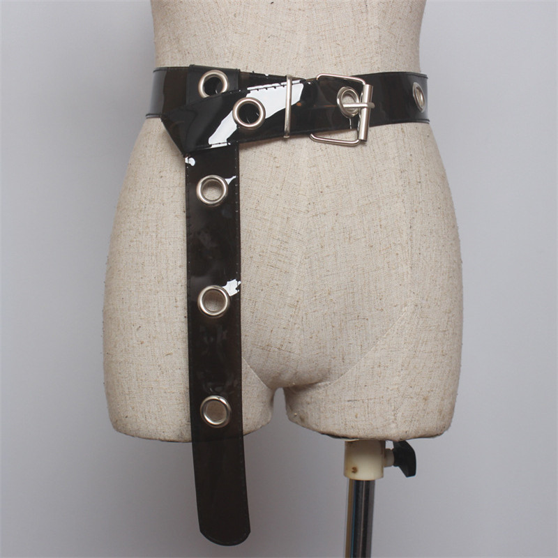 Fashion Belts For Women Resin Transparent Belt Jeans Dress Waist Strap Pin Buckle Harajuku PVC Clear Belt Ladies Accessories