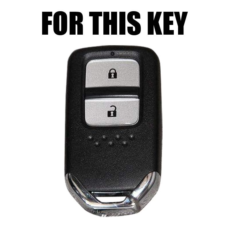 Image 2 - ホンダ HR V Vezel フィットジャズ市シビックアコードシリコーン Remote キーケース Fob Shell  ケースカバースキンホルダー 2 ボタン 2015 2018    グループ上の 自動車