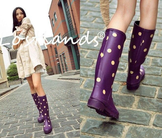 Aliexpress.com : Buy Women's Fashion Hand Made Dots Print Tall ...
