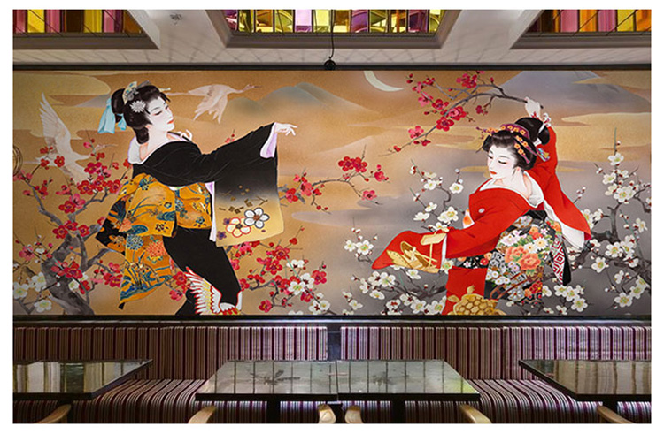 Japanese Sushi Cuisine Shop Wallpaper Restaurant Hotel Theme Package Mural Background Wall 3d Japanese Ladies Wallpaper ботики jj gobi