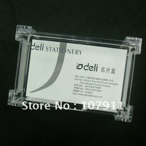 40pcslot Clear Plastic Business Card Holder Mame Cards Case Display Best Business Card Display Stands