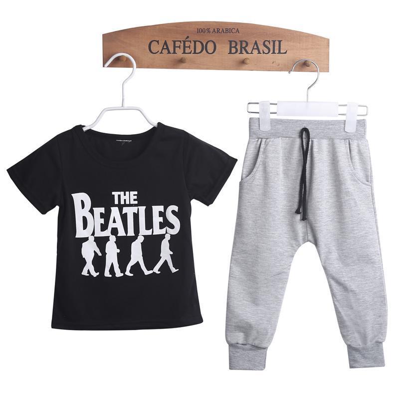 Ins Niños Ropa Conjuntos Niños 2 unids Ropa Trajes Niños Deporte Beatles traje M