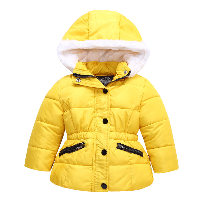 Baby Girls Winter Coat 2018 New Fashion Cotton Kids Hooded Jacket Parka Toddler Girls Fleece Warm Coats Children Outerwear girls coat new 2017 fashion thicken outerwear coats solid kids warm jacket hooded girls winter jackets 5 14y children costume