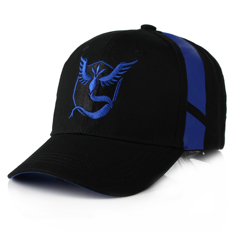 Composite Bats Cartoon Anime Poke mon Go Team Mystic/Valor/Instinct Baseball Cap Cosplay Monster Pika chu hip hop Man Woman Novelty hat