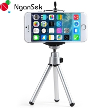 Mini Mobile Phone Camera Tripod Stand Clip Bracket Holder Mount Adapter Self-Timer Phone Soporte For iphone Samsung Camera(China)