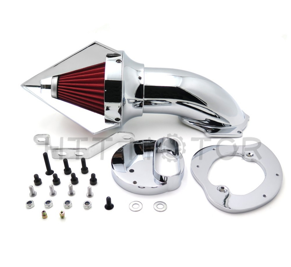 Aftermarket free shipping motorcycle parts Cone Spike Air Cleaner for Yama V-Star 1100 Dragstar XVS1100 1999-2012 CHROME aftermarket motorcycle parts chrome spike air cleaner for yamaha road star 1600 xv1600a 1700 xv1700 1999 2012
