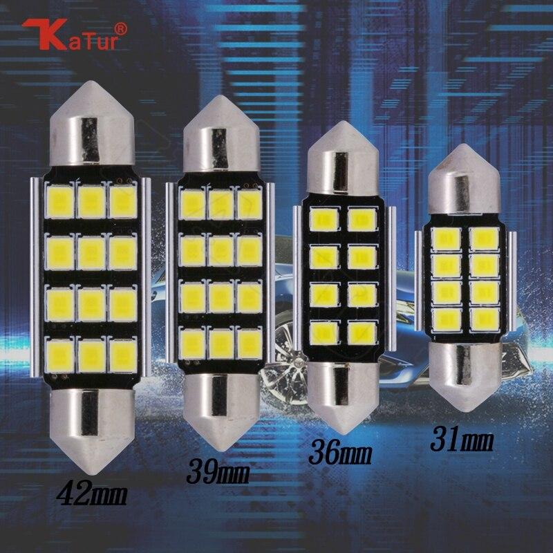 2шт свет купола автомобиля СИД потолочное освещение гирлянда 31мм 36мм 39мм 42мм светодиодные светоизлучающие диоды в освещения салона автомобиля значение