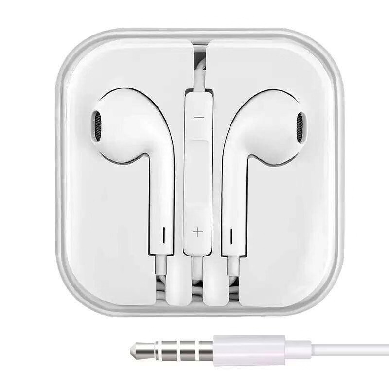 3.5mm Jack In-ear Wired Earphone For IPhone 6 6s 5 5S 4 4S 3GS IPod IPad Handfree Microphone Earbuds 3.5mm Stereo Headset