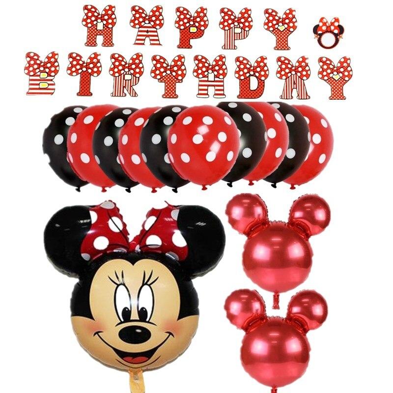 1 satz nette mickey minnie1 2 3 4 5 6 7 8 folie luftballons geburtstag partydekorationen liefert helium globos baloes rot minnie ballons