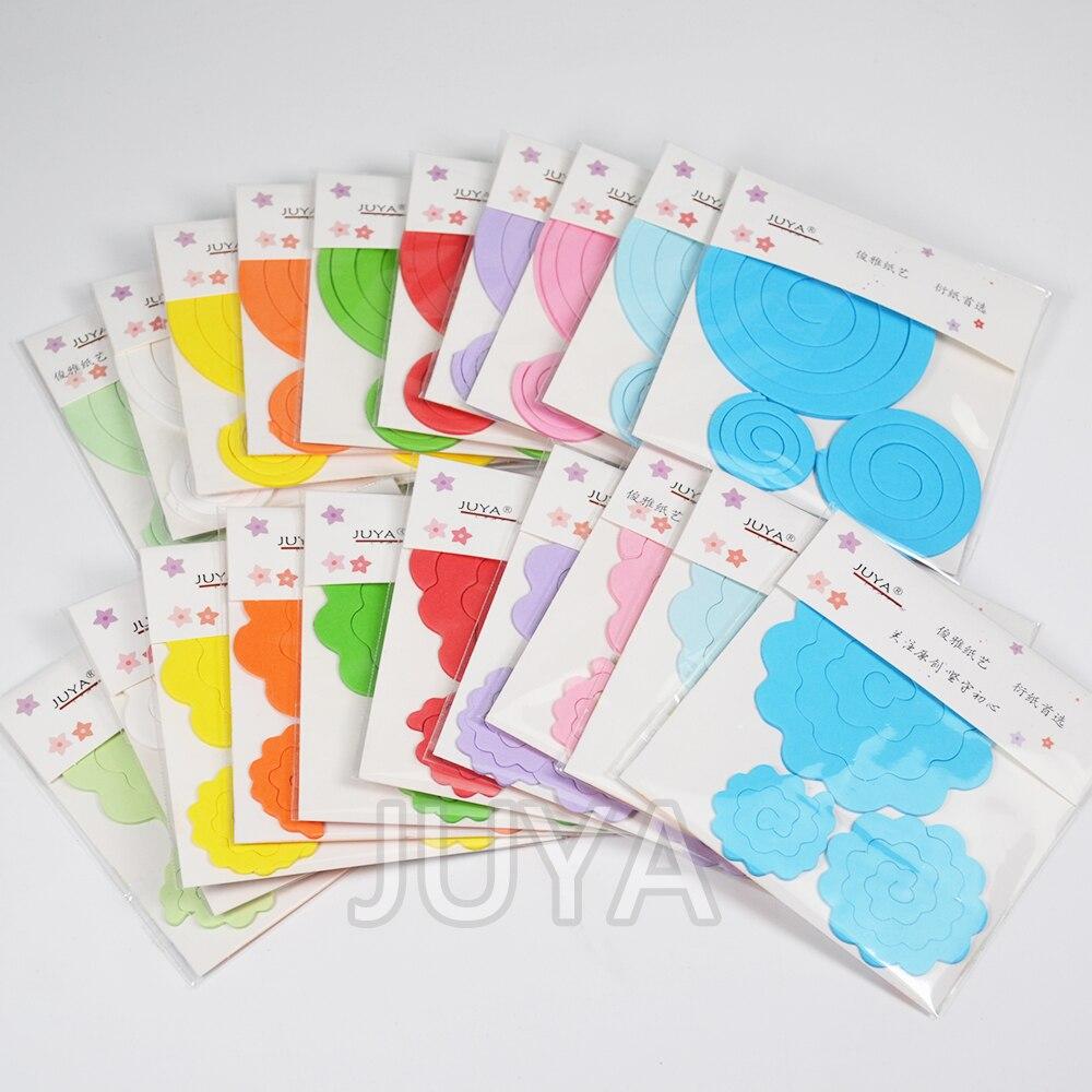 JUYA Floral Papier Quilling 20 paket 600 stücke 10 farben Rose und ...