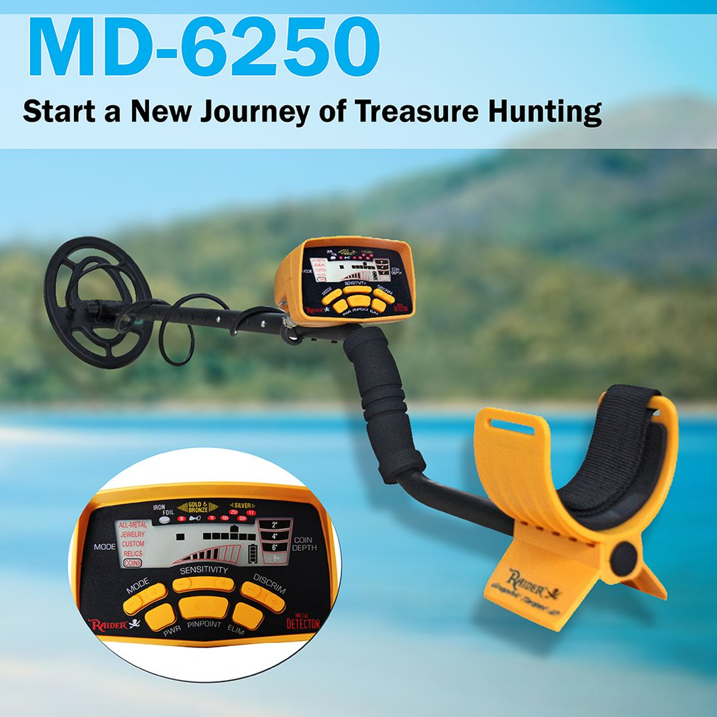 MD-6250 Handheld  Metal Detector Underground Gold Detector Metal Md6250 Gold Detector Treasure Hunter Seeker Portable Hunter