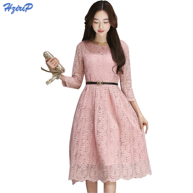 Fashion Lady Dresses: 2017 Spring New Fashion Women Dress Elegant Vintage Sweet