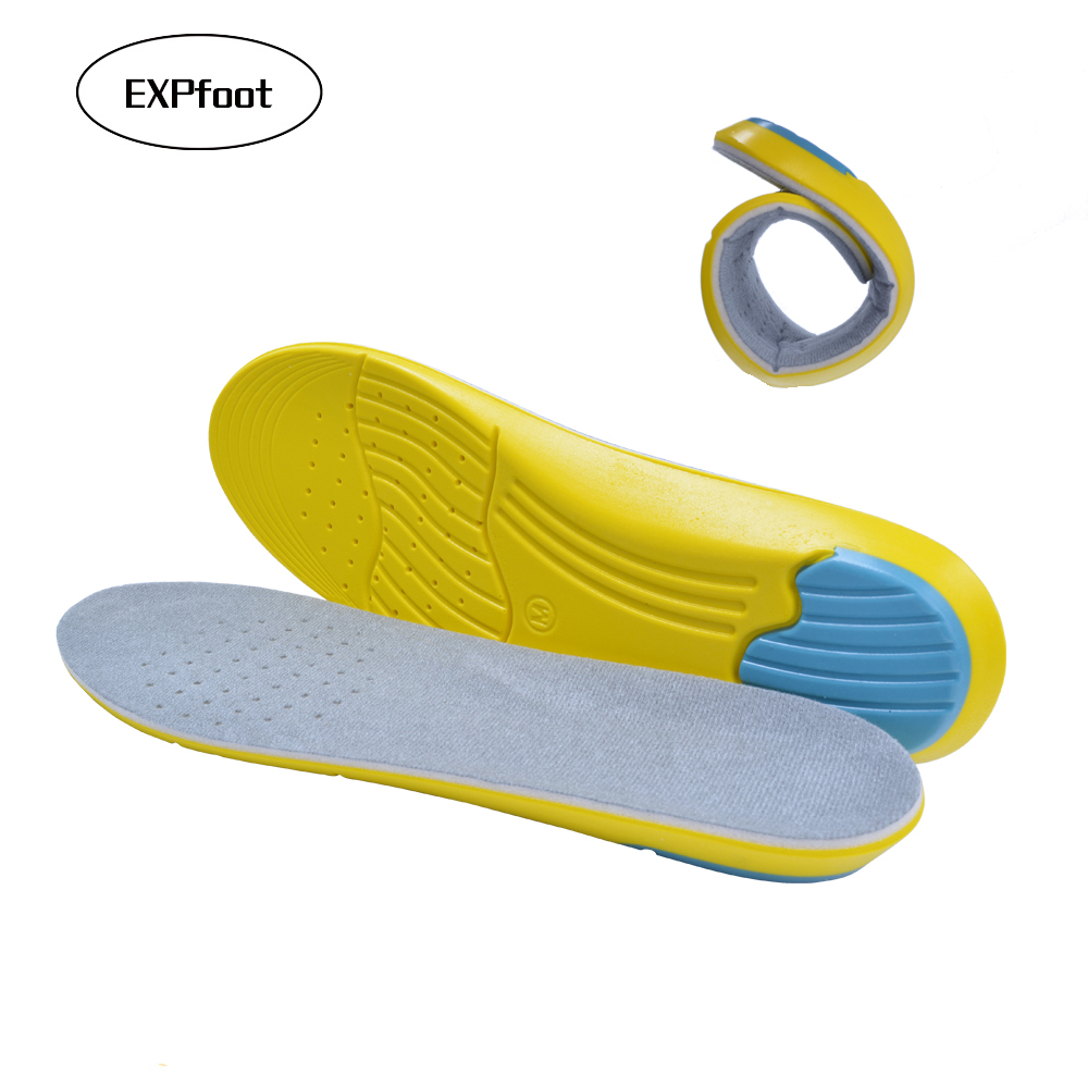 PU Foam Insoles Foot Care for Plantar Fasciitis Heel Spur Running Sport Insoles Shock Absorption Pads arch orthopedic insole soumit soft memory foam insole shock absorption insole orthotics arch support running sport insoles for women men foot care pads