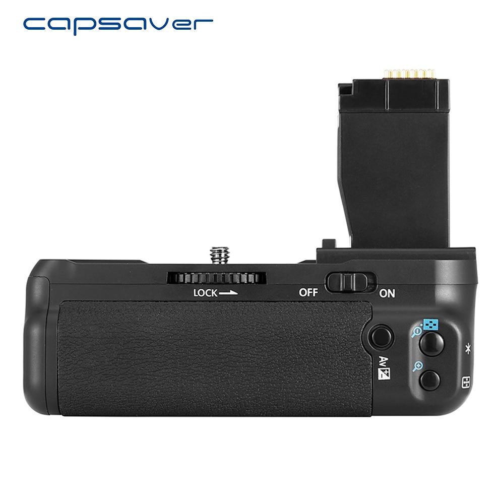 Capsaver poignée de batterie verticale pour Canon EOS 750D 760D T6i T6s X8i 8000D appareil photo remplacer le support de batterie de BG-E18 travailler avec LP-E17