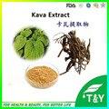 Suministrar 20:1 extracto de polvo de extracto de raíz de kava kavalactones 200 g/lote