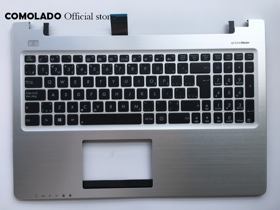 CF Canada-French keyboard for Asus S550 S550CM with silver palmrest cover laptop keyboard CF Layout