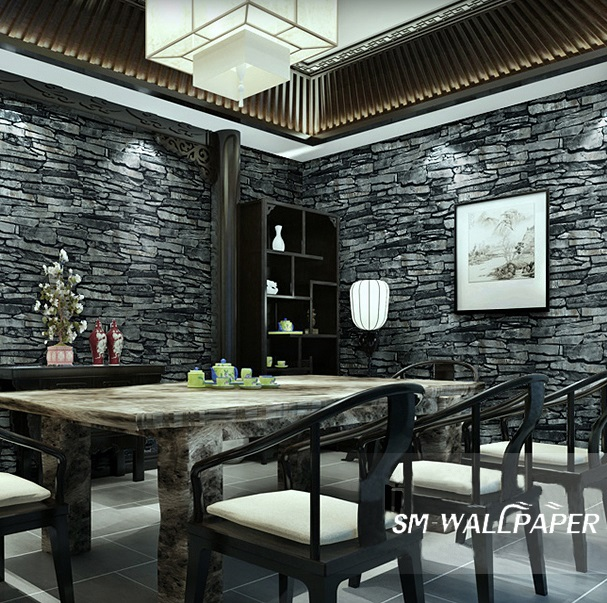 Hot Selling Eco-friendly 3d Stone Brick wall Stickers Wallpaper Home Decoration papel de parede Murals Wholesale