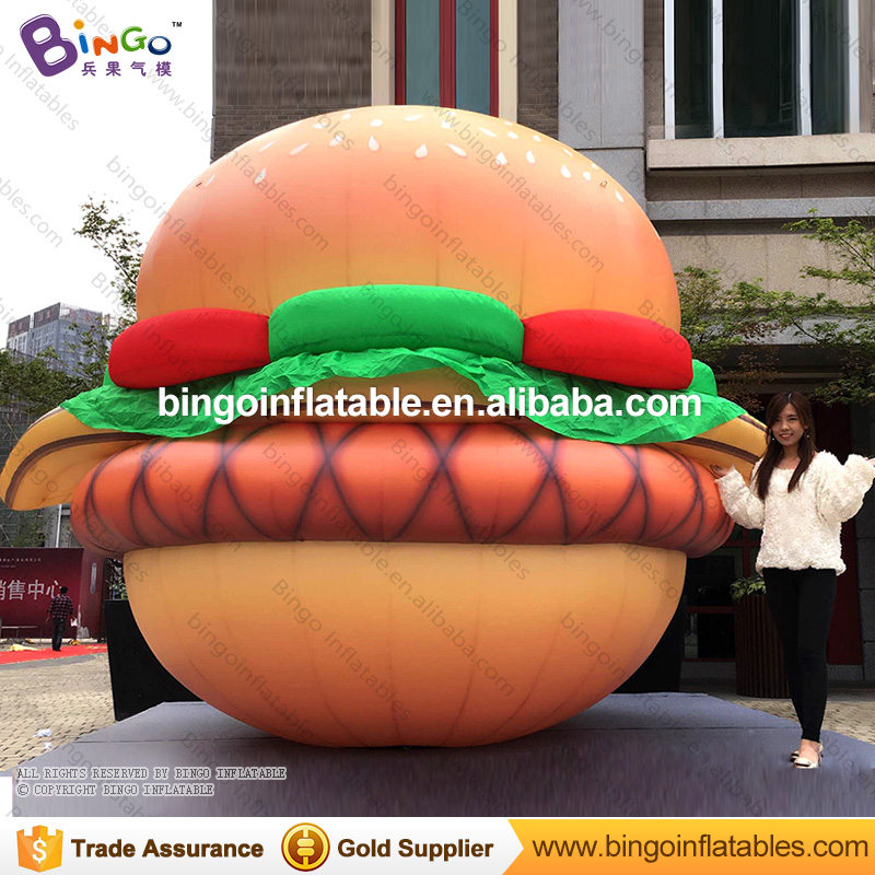 Free shipping 3m high Yummy inflatable hamburger for promotion events BG-A1265 toyFree shipping 3m high Yummy inflatable hamburger for promotion events BG-A1265 toy