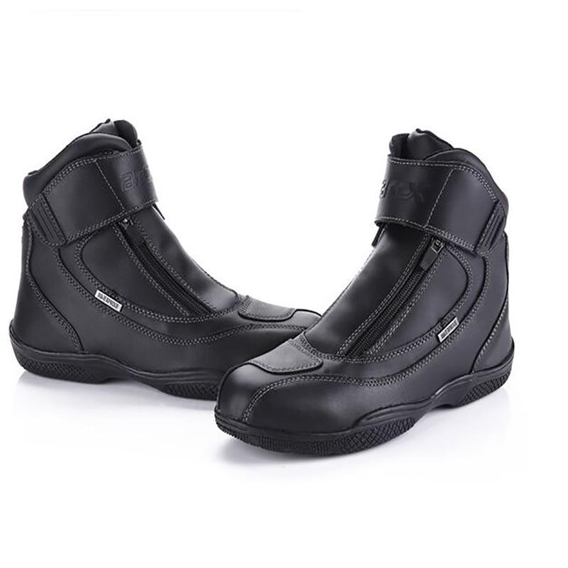 ARCX мотоцикл сапоги из натуральной корова кожаные ботинки туфли-botas мото гоночный ботинок верховая езда ботинок гоночный ботинок мотоцикл