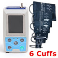 24 часа Амбулаторный монитор кровяного давления система ABPM бесплатно 6 манжеты! ABPM50